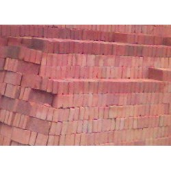 Tabique de Barro Rojo 6 X 12 X 24 - - - Millar