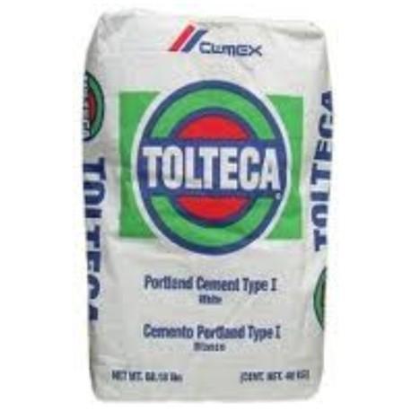 cemento blanco tolteca ton saco de 25kg precios