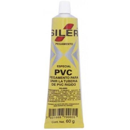 Pegamento Cemento SILER PVC - - - 60 GR