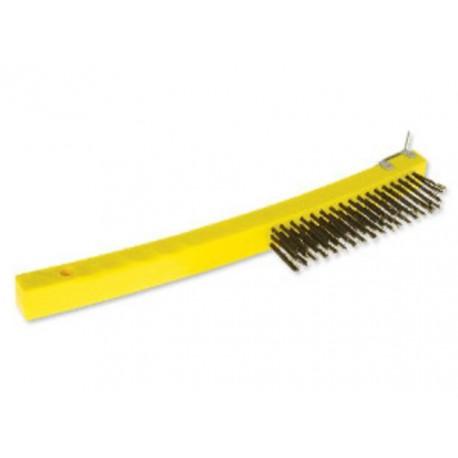 Cepillo de Alambre con mango y rasqueta. 3X17 - - - Pieza