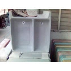 Lavadero de cemento standard con pileta - - - Pieza