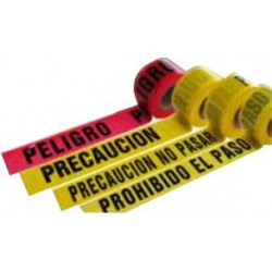Cinta Barricada PROHIBIDO EL PASO - - - Rollo 304 ml